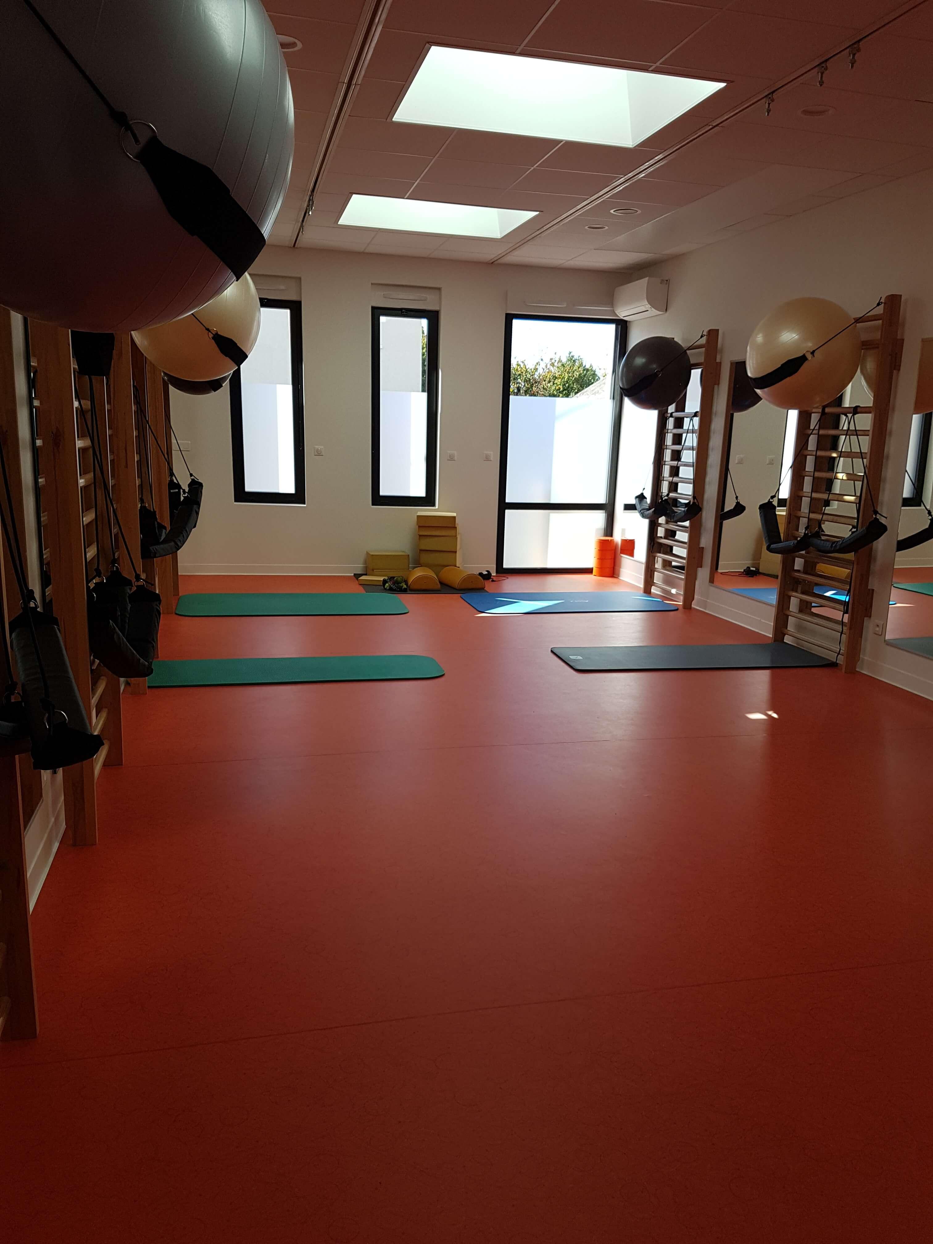 Revêtement de sol salle de sport