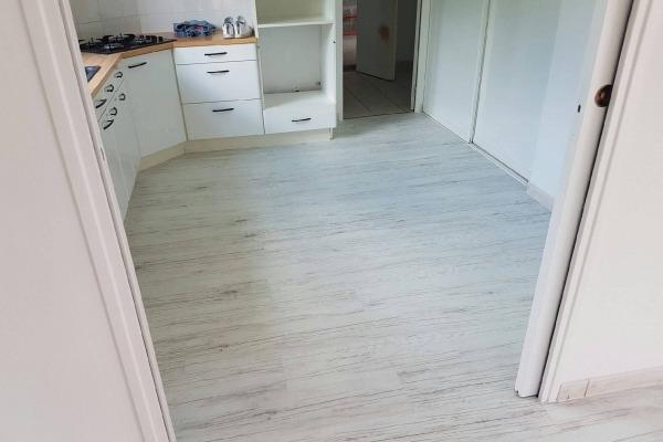 Sol lino bois blanc